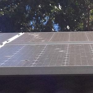 Dirty solar panels geelong