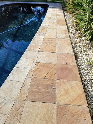 Sandstone pavers without algae and dirt geelong