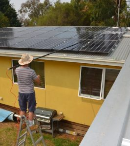 Cleaning solar panels geelong