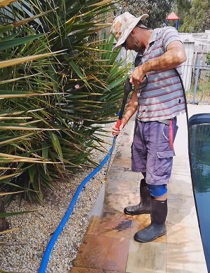 Pressure Cleaning Sandstone Paver Barwon Heads