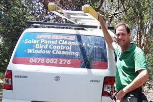 Professional Window Cleaner with car Geelong